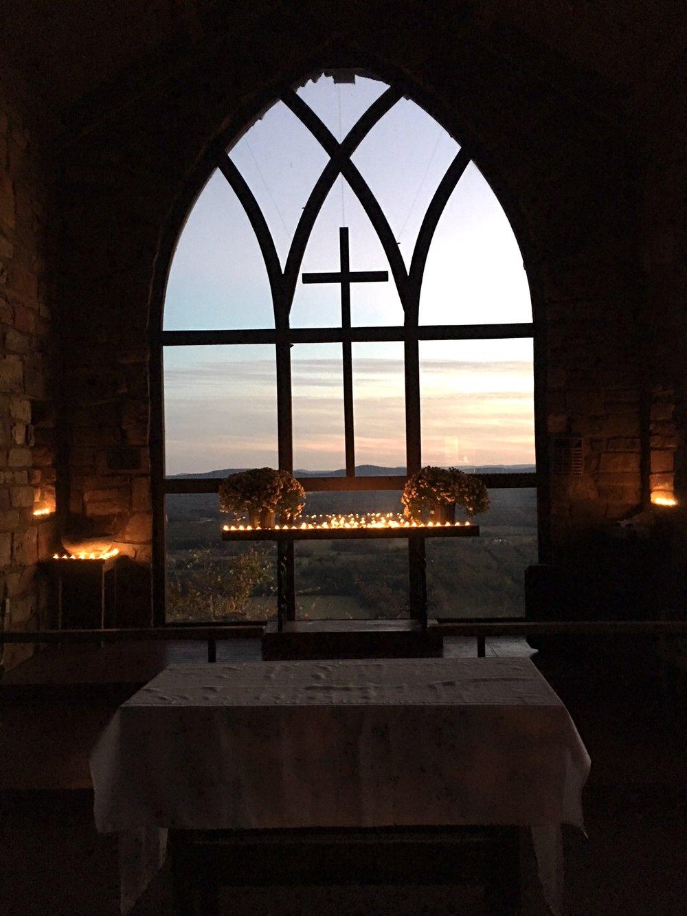 camp mitchell altar candles.JPG