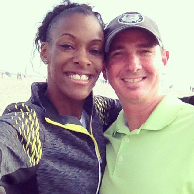 Bret Moldenhauer with Olympian Dee Dee Trotter