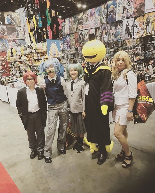 Assassination classroom! What an awesome group cosplay! . . . . . . . #assassinationclassroom #cosplay #megacon @megaconvention