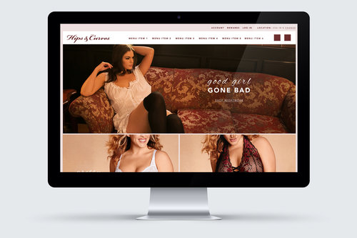 hips and curves homepage redesign example