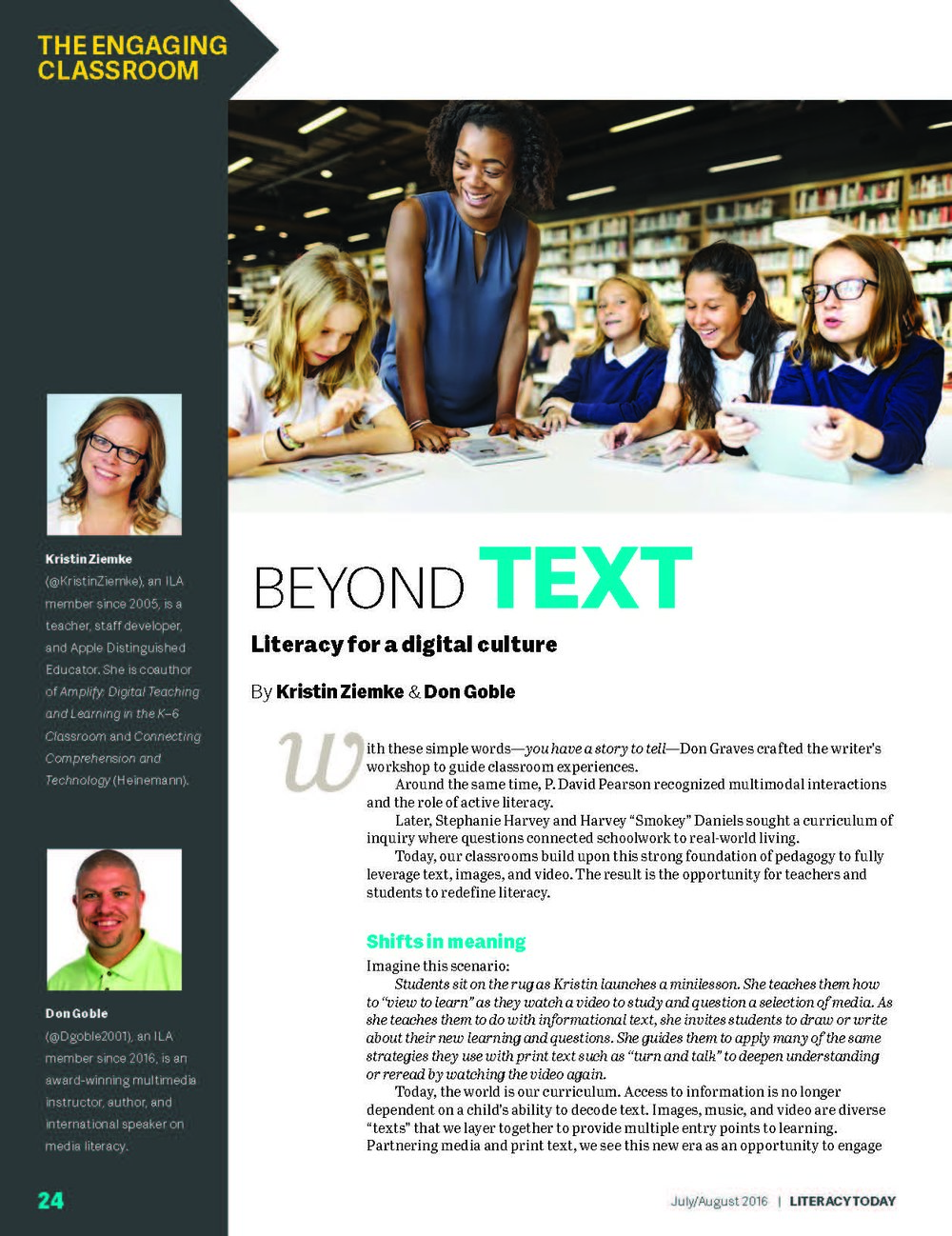 Beyond Text Literacy for a Digital Culture