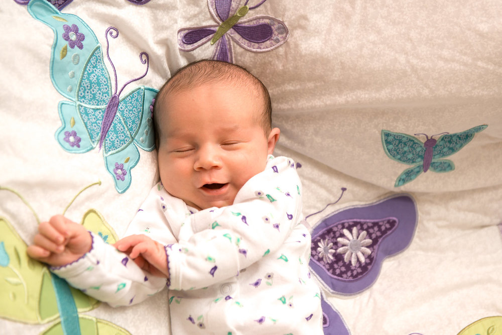 Smile dreaming baby NJ New Jersey