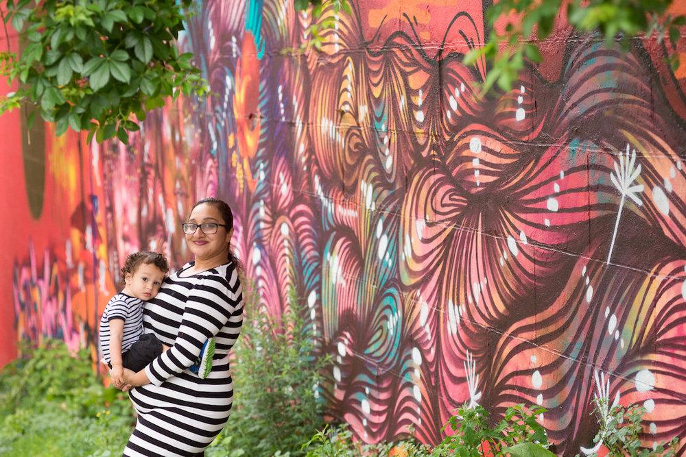 Bronx NYC Family photography Mural