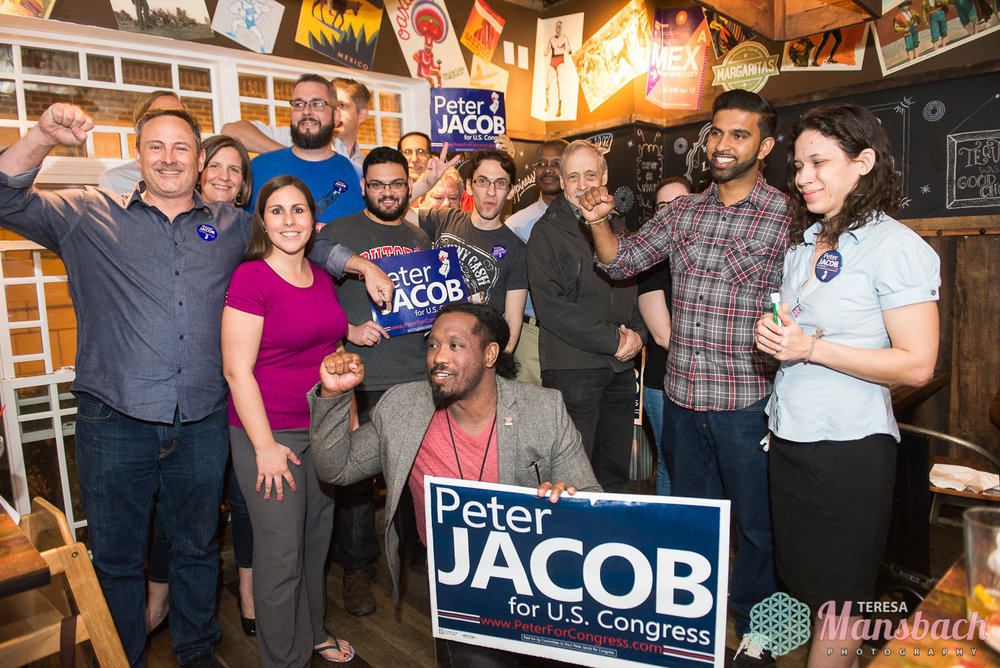 Peter Jacbos for Congress NJ district 7 at River Rail Cantina