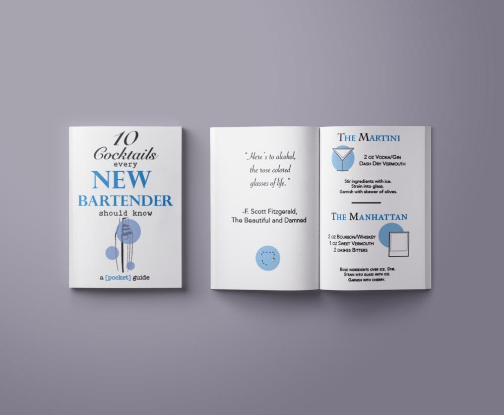 8-page pocket booklet.