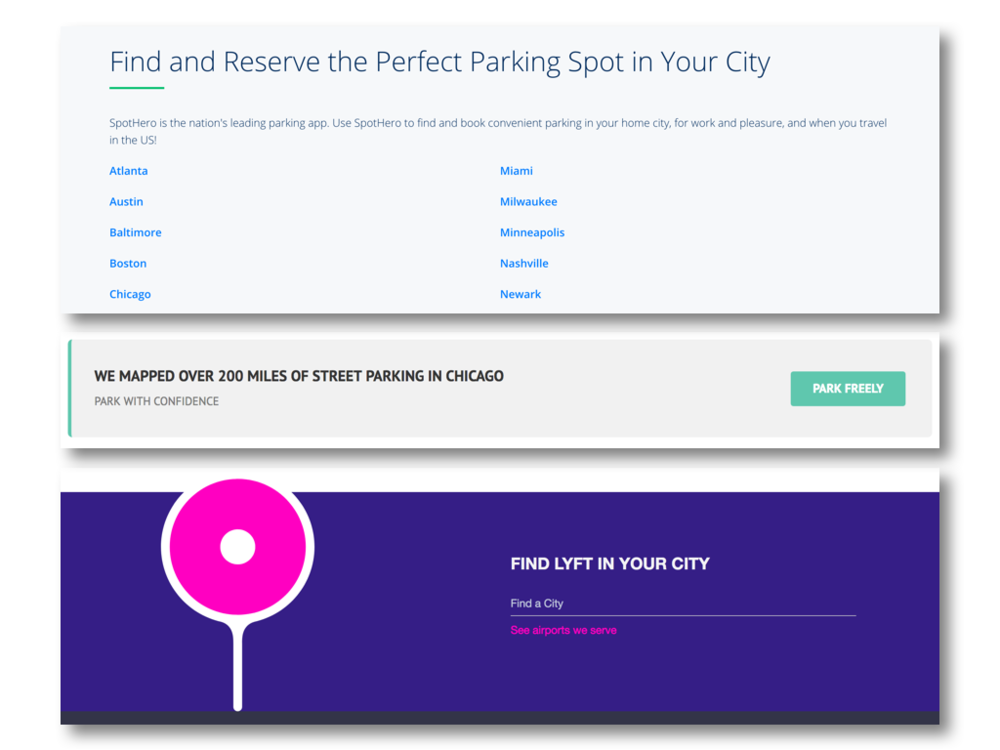 Emphasize the city:  customizing the app to the city's parking information ensures that the app accesses accurate information.