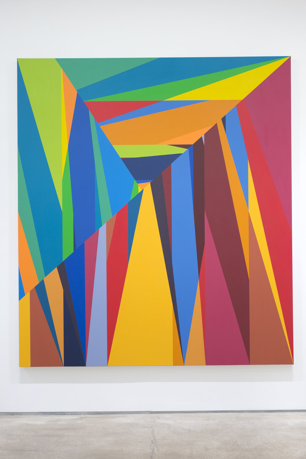 Odili Donald Odita,  The Door to Revolution , 2015, acrylic on canvas, 90 x 80 inches ©Odili Donald Odita.  Courtesy of the artist and Jack Shainman Gallery, New York.