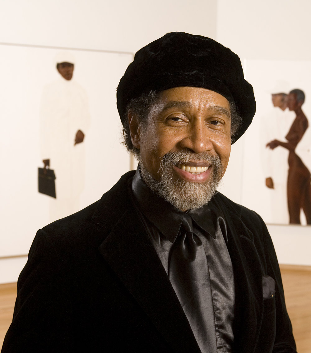 "Barkley L. Hendricks, 2017 Artistic Director's Award - Barkley L. Hendricks was a painter and photographer best known for his realist and post-modern portraits of people of color living in urban areas beginning in the 1960s and 70s and continuing to the present. Trevor Schoonmaker, the organizing curator for Hendricks' traveling exhibition Barkley L. Hendricks: Birth of the Cool said, ""His bold portrayal of his subject's attitude and style elevates the common person to celebrity status. Cool, empowering, and sometimes confrontational, Hendricks' artistic privileging of a culturally complex black body has paved the way for today's younger generation of artists."" Hendricks was born in Philadelphia, Pennsylvania, and lived and worked in New London, Connecticut until his passing in April of 2017. He earned both his BFA and MFA from Yale University.Photo: Duke University Photography"