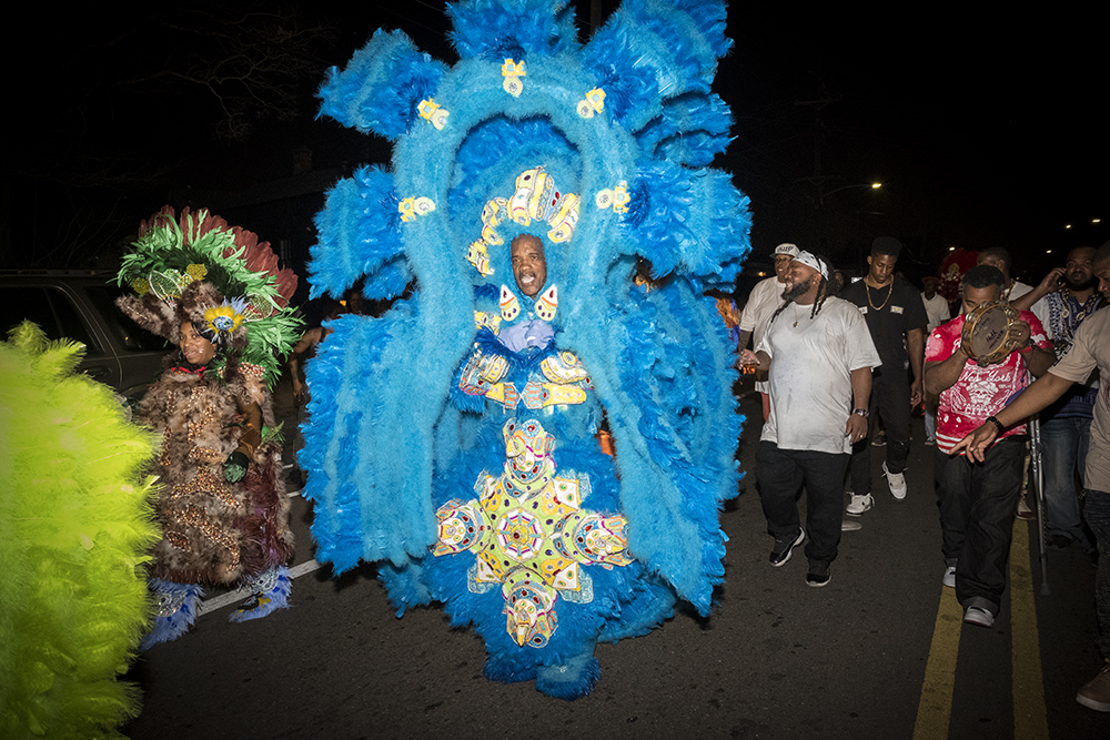 Ben Arnon  Big Chief Darryl Montana on Carnival Day I,  February 28, 2017, New Orleans, LA, Color photograph, Image courtesy of Ben Arnon Photography Inc., © 2017 Ben Arnon Photography Inc.