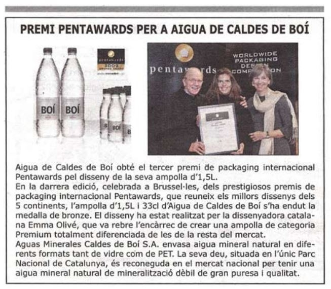 Periodico de Calalunya - Botella Boí