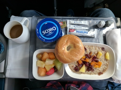 A light and tasty first class breakfast.