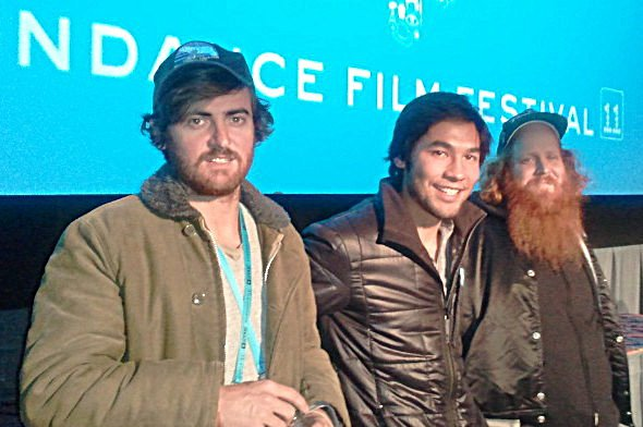 Carlos Puga (Director), Brandon Li (Camera), and Patrick Lowery (Actor)