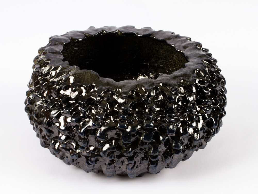 Murdered Out Bowl # 3 (mid-size tire), 2018  stoneware