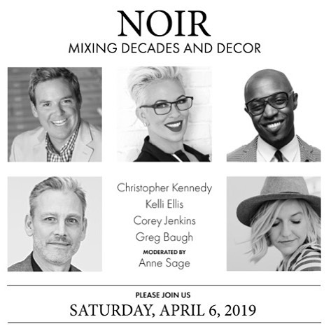 Today at High Point! Join me and a few fun friends for a lively panel talk at Noir Furniture! At the CFC Building 114 S Elm
