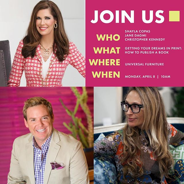 If you are at High Point, please join Shayla Copas, Jane Dagmi and me today at 10am as we discuss publishing a book! Universal Furniture - 101 S Hamilton.