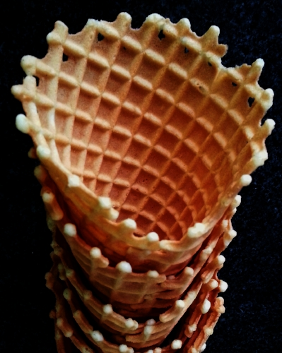 we are one of the very few uk scoops shops to handmake environmentally-friendly ice cream waffle cones