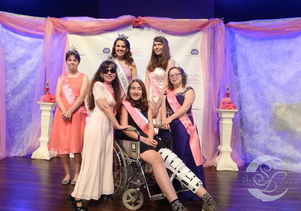 2017 Queens Pictured: (Front, L-R) Sr Miss Queen Amy McFarland, Preteen Miss Queen Jayden Edwards, and Teen Miss Queen Sophia Pryor (Back, L-R) Jr Teen Miss Queen Kristina Swann,  Miss Virginia Cecili Weber , and Miss Queen Hanna Lawson