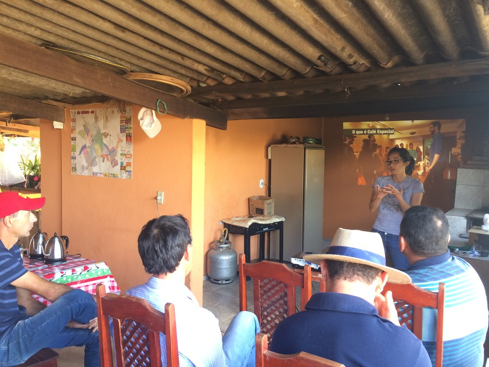 Specialty coffee talk at Mr. Rafael's house located at the rural settlement Agrovila in São Gotardo