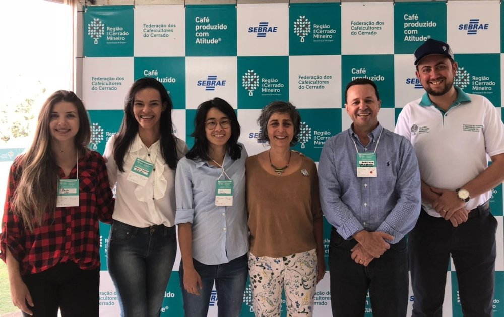 IWCA and Cerrado Mineiro Region teams: Raquel Menezes, Yuki Minami, Miriam Monteiro, Francisco de Assis and Juliano Tarabal