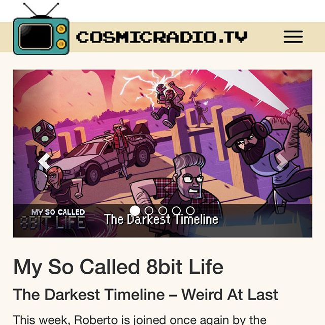 Our interview with @vincent404_inst is live now on cosmicradio.tv! Come listen to us talk about The Darkest Timeline, Chiptunes, John Stamos, Cassini, and a WHOLE lot more!