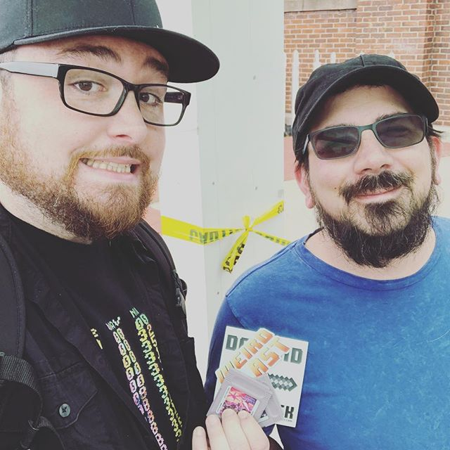 Mike and Jon are at the #longislandretrogamingexpo today, and they've got some carts of our new album and the first EP to give away! And stickers! Find them to get yours! #liretrogamingexpo2018 #chiptune #poppunk #chiprock