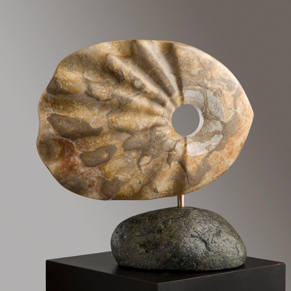 "Utah Alabaster, 8""x 15.5""x 15.5""h *"