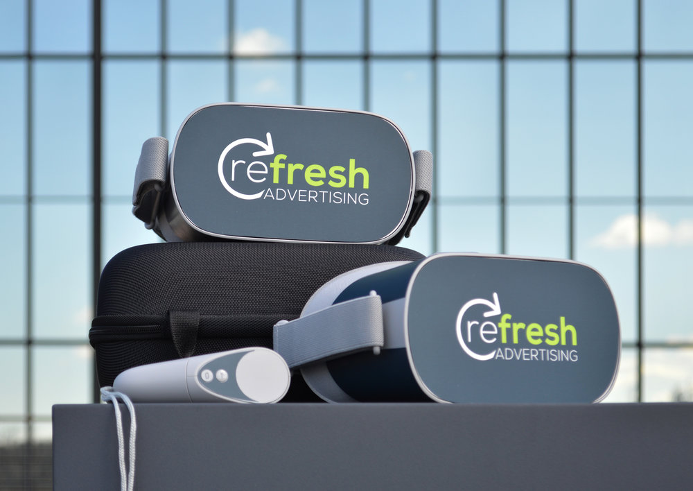 Refresh VR Package - - FREE Initial Consultation- Branded VR APP Available in the Oculus Store (Downloadable for Offline Use – No WIFI Needed)- Custom VR Homepage Experience with Brand Colors, Logos, Etc.- On-site Photographer Visit with up to 10 Final High Resolution 360° Images (Option for additional photos)- Two (2) Custom-Branded Oculus Go Headsets w/Cases for Easy and Safe Transportation (Shipping Included)- 2-D Web/Mobile Version for use Without a Headset- One Year of Web/VR Hosting Included