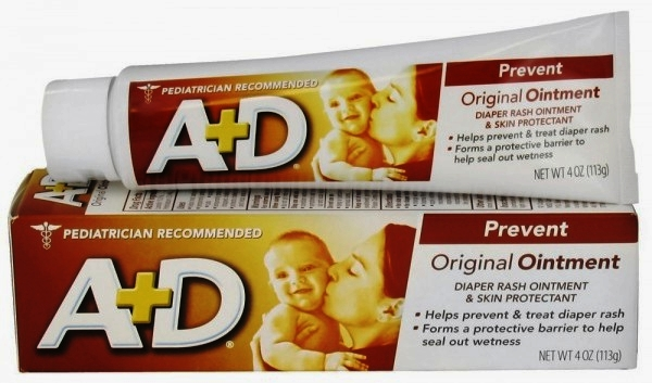 Another option is:   A+D ointment (tube is recommended) -