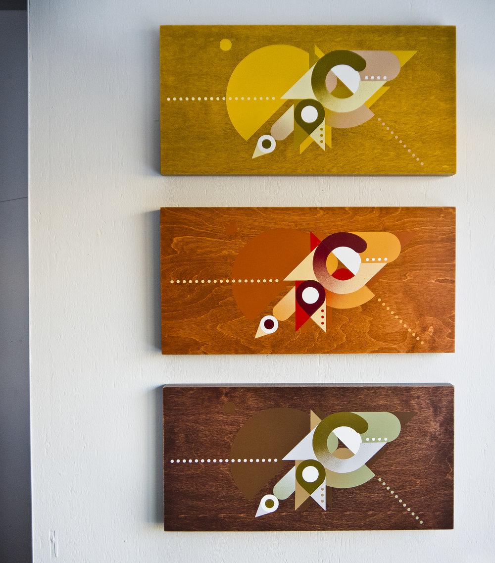 'Triage' triptych - 2017