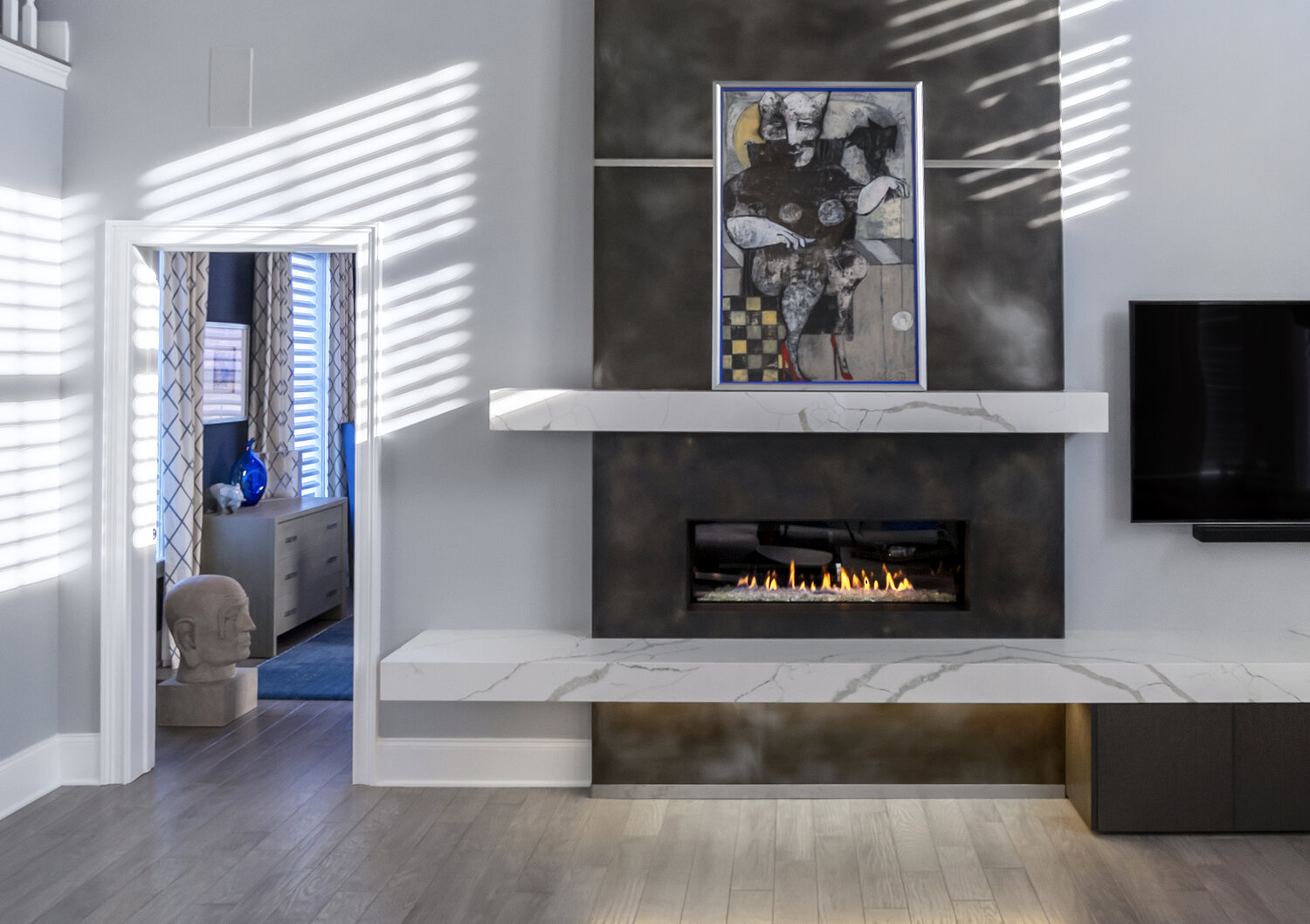 A Modern Hearth for a Traditional Home — NEW HOPE REMODELING