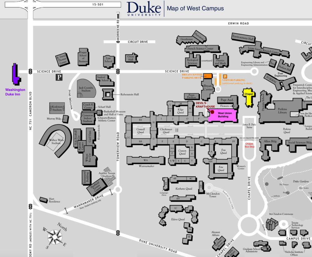 Juice Lara - Duke west campus map