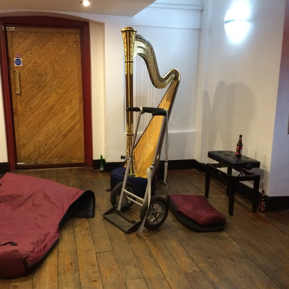 Goosebumps as I found myself and my harp parked in the corner of a studio Amy Winehouse had recorded in