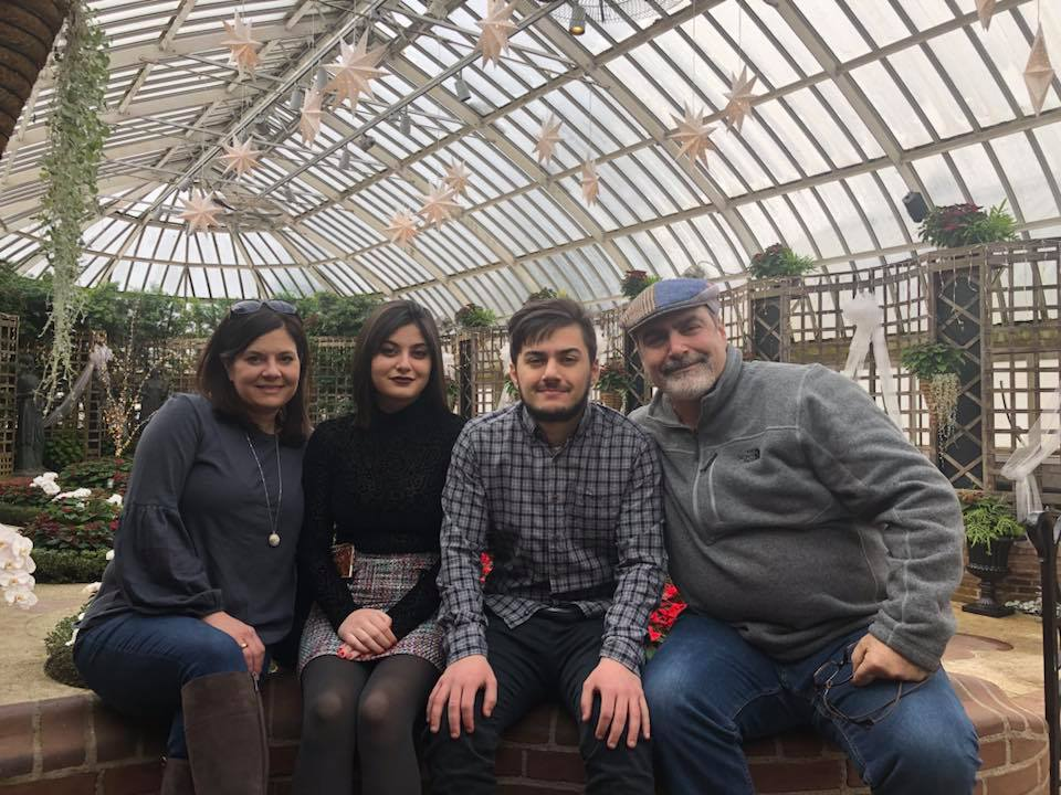 Panagiotakis family at Phipps Conservatory