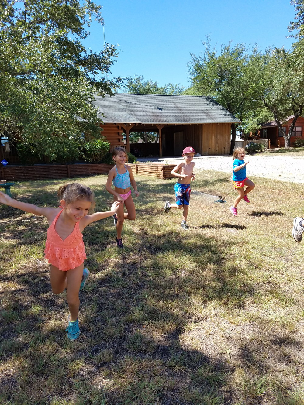 Sprinkler games helped cool everyone off!