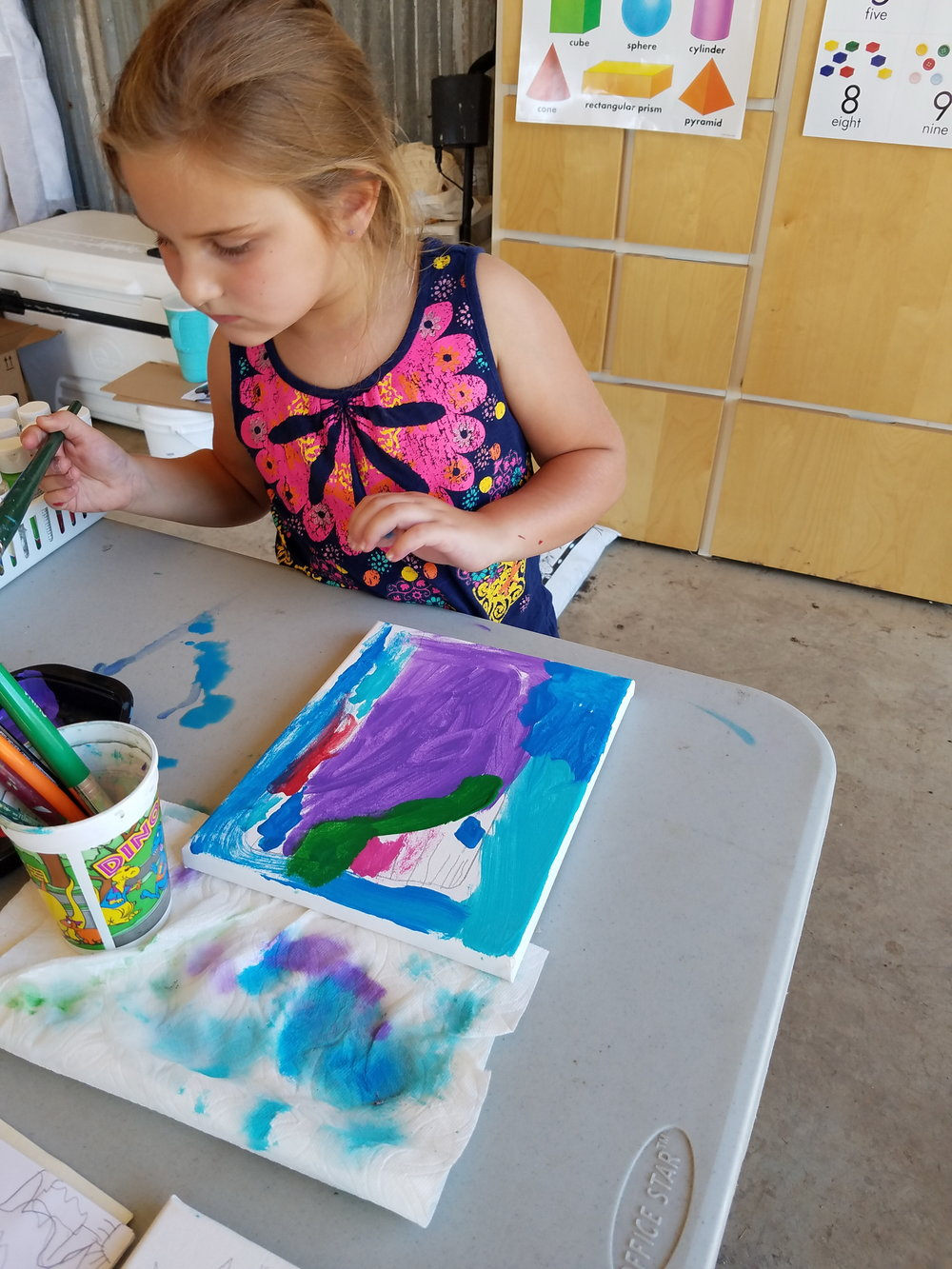 """Farmer, I think I would like another color. Farmer Amy, I think I would like another color again."" Farmer Amy is so glad she kept asking for more colors. What a beautiful painting!"