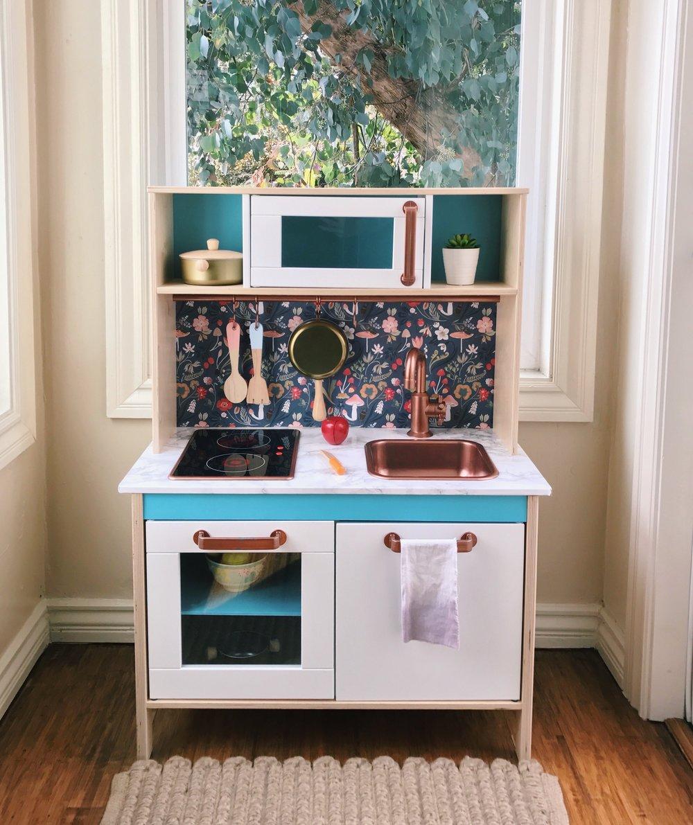 diy ikea play kitchen design confetti - Ikea Play Kitchen