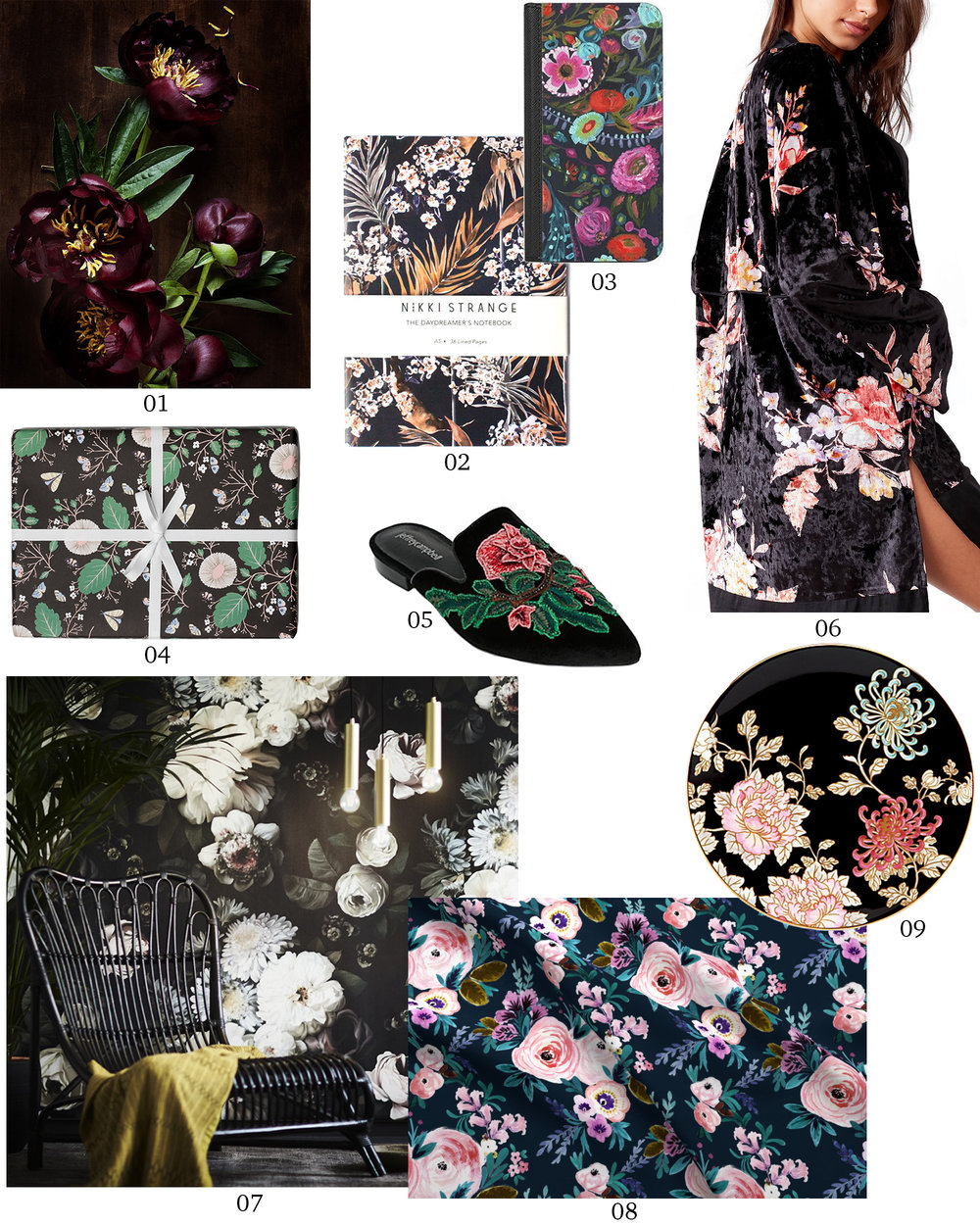 Crushing On: Moody Florals | Design Confetti