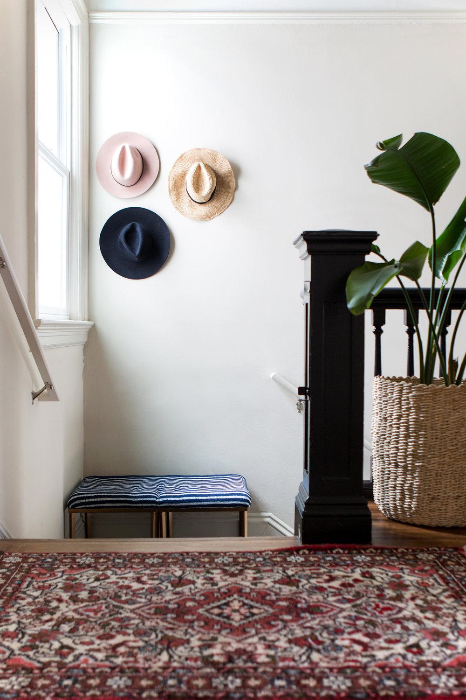 DIY: Entryway Hat Wall