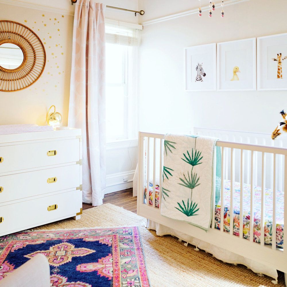 Get the Look: Sophie's Boho Glam Nursery | Design Confetti