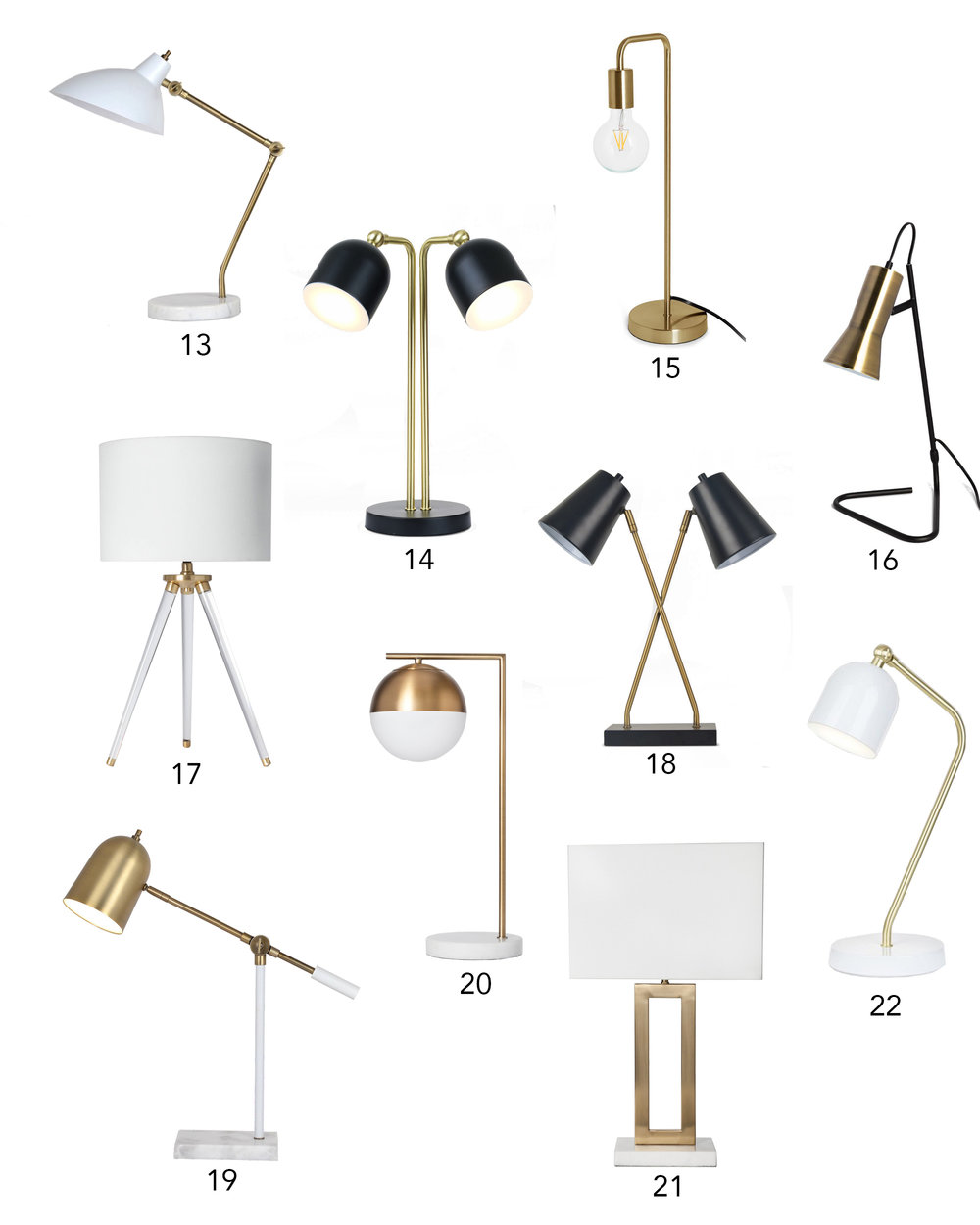 50 Stylish Lamps You Won't Believe Are Under $50 | Design Confetti