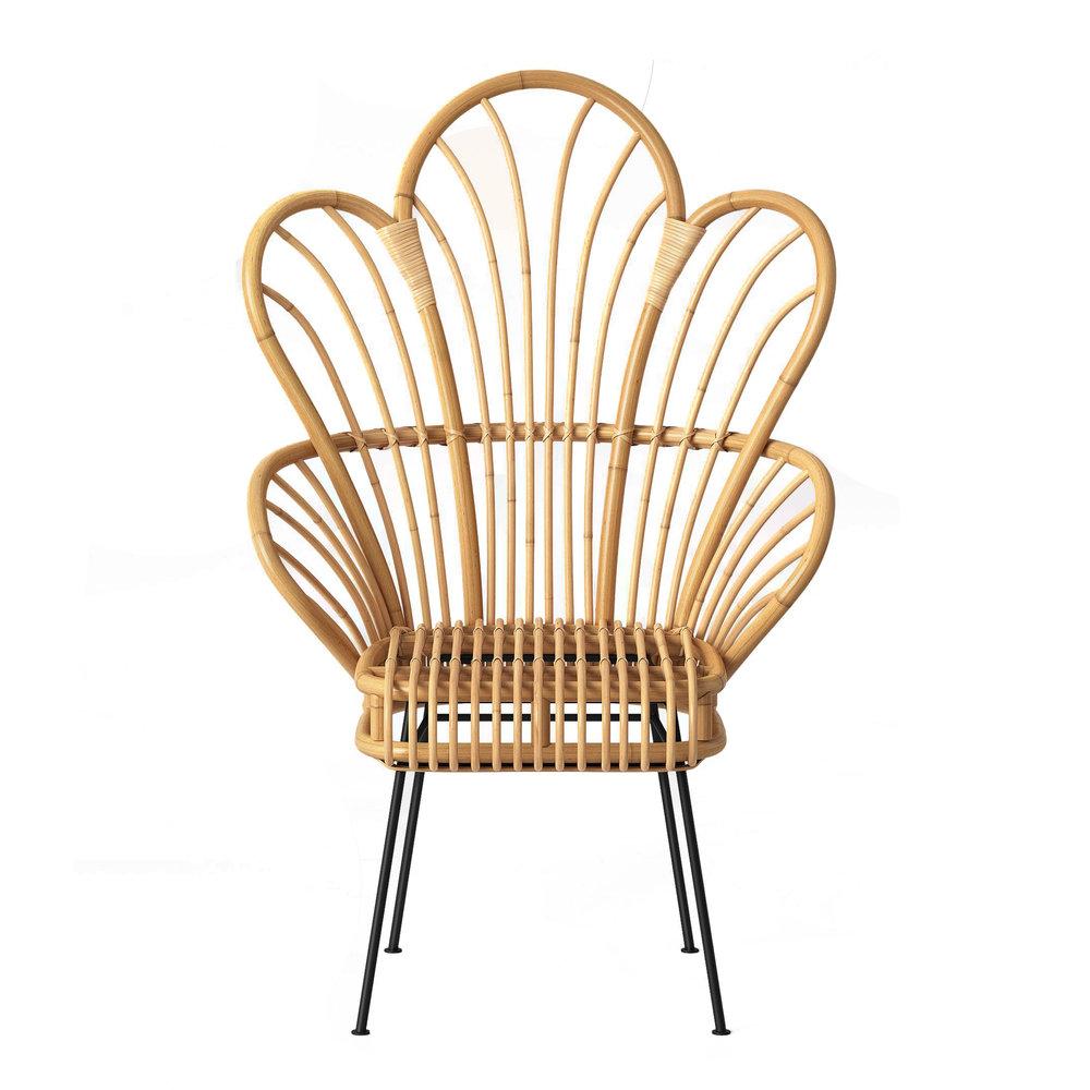 Avocet Rattan Fan Back Accent Chair, $159.99 -