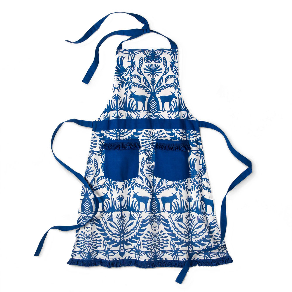Blue Eulalia Fringed Apron, $16.99 -