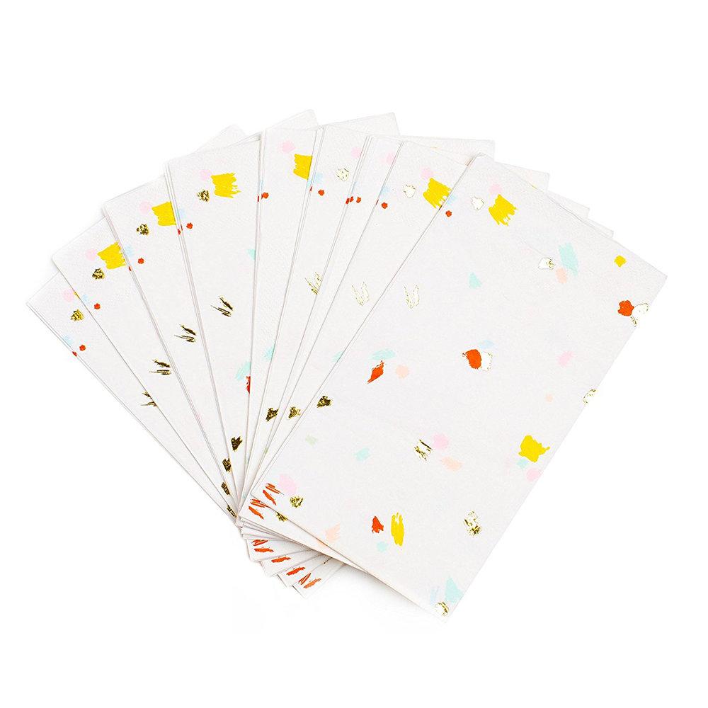 Sugar & Cloth Paper Napkins Confetti Print, $9.99 -