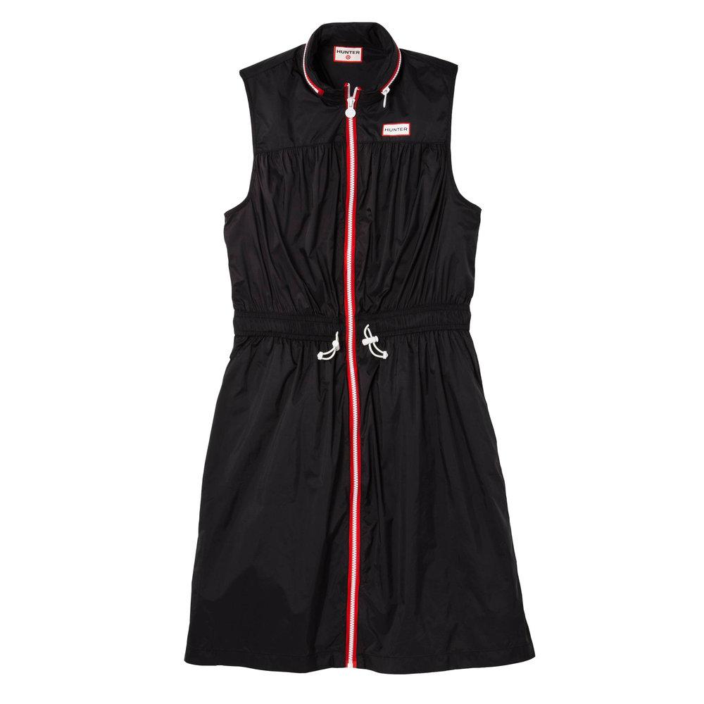Zip Front Packable Hooded Sleeveless Dress, $35
