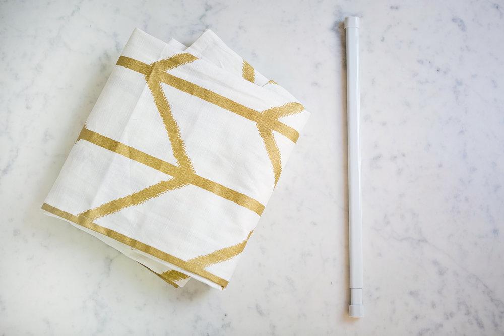 #OneRoomChallenge, Week Four: Faux Roman Blind DIY