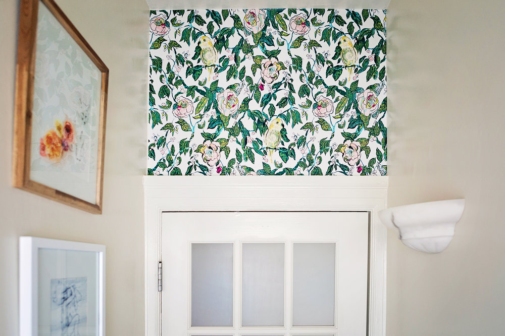 #OneRoomChallenge, Week Five: Removable Wallpaper | Design Confetti