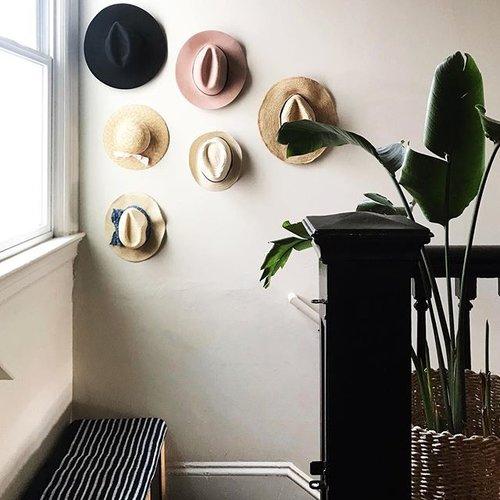 DIY Entryway Hat Wall