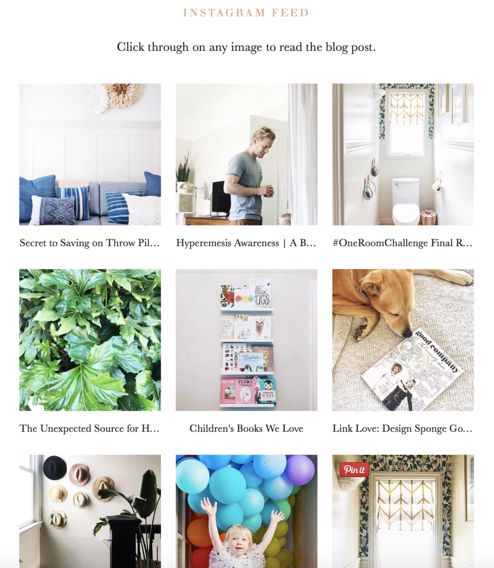 Our New Instagram Landing Page + a Squarespace Tutorial | Design Confetti
