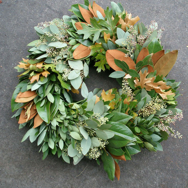 San Francisco Flower Mart - Whether you want to pick up a ready-made option like the one pictured from Pacific Coast Evergreen, or a armful of branches to craft one yourself, the SF Flower Mart has what you need.