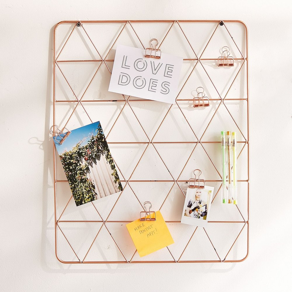 Geo Wire Wall Grid, $34